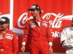Микеле Алборето, Герхард Бергер и Еди Чивър, Гран при на Италия 1988 ; снимка Ферари