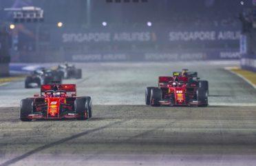Себастиан Фетел Ферари Сингапур 2019