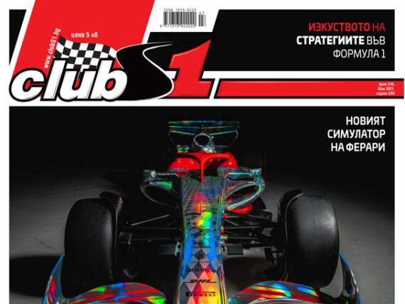 Списание ClubS1, корица на брой 249
