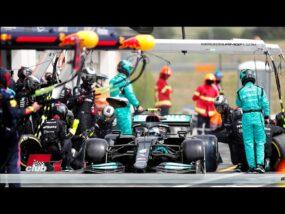 бокс на Валтери Ботас по време на Гран при на Франция 2021